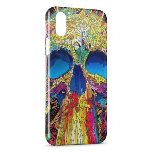 Coque iPhone XS Max Multicolor SF Tete de Mort