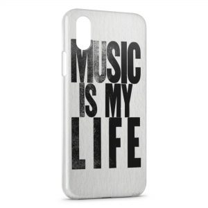Coque iPhone XS Max Music is My Life