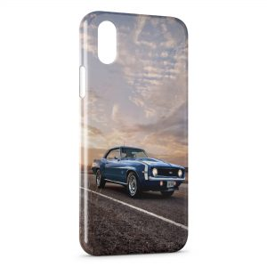 Coque iPhone XS Max Mustang Bleue