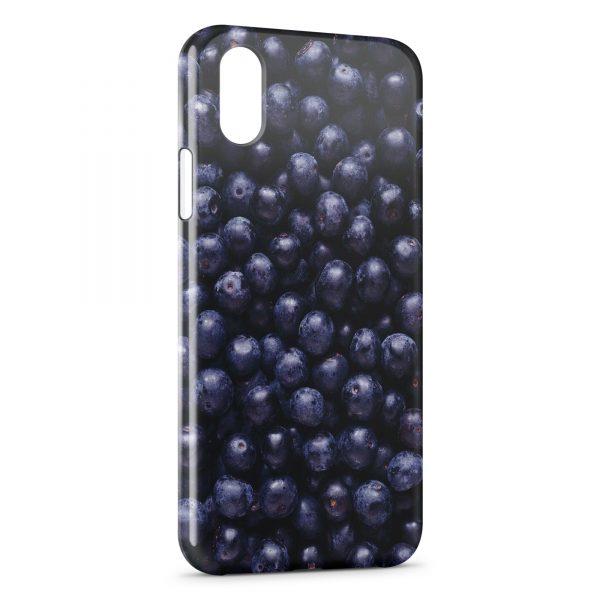 Coque iPhone XS Max Myrtilles