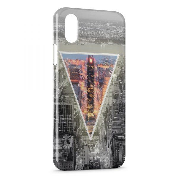 Coque iPhone XS Max New York Pyramide