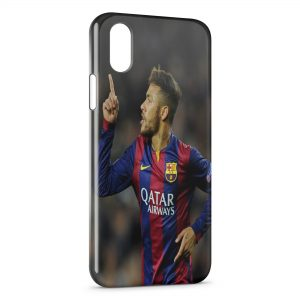 Coque iPhone XS Max Neymar Barcelone Football