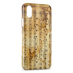 Coque iPhone XS Max Notes de Musique