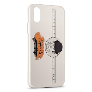 Coque iPhone XS Max Orange Mécanique 2