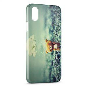 Coque iPhone XS Max Ourson Pluie Vintage Mignon