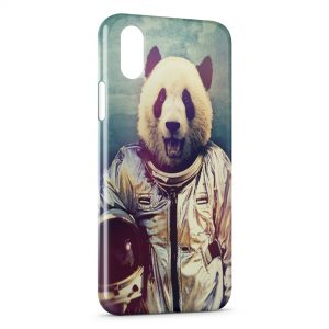 Coque iPhone XS Max Panda Astronaute