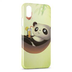 Coque iPhone XS Max Panda Cute Kawaii Hamac