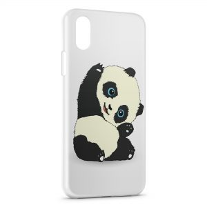 Coque iPhone XS Max Panda Kawaii Cute