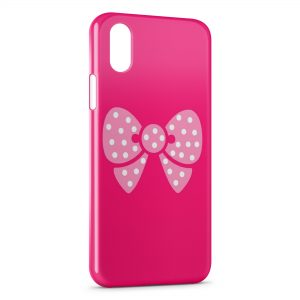 Coque iPhone XS Max Petit Noeud Rose Cute