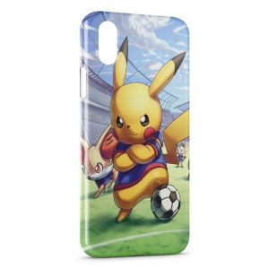 Coque iPhone XS Max Pikachu Football Pokemon