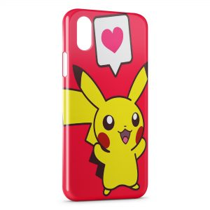 Coque iPhone XS Max Pikachu Love Pokemon