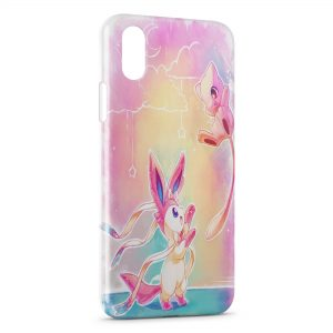 Coque iPhone XS Max Pikachu Mewtwo Pokemon Art