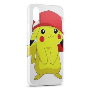 Coque iPhone XS Max Pikachu Pokemon Casquette Sacha