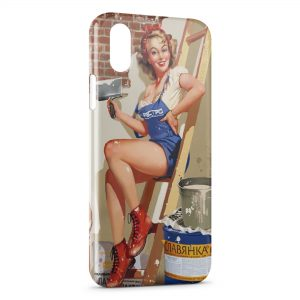 Coque iPhone XS Max Pin up Painted Travaux
