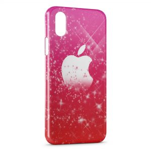 Coque iPhone XS Max Pink Apple