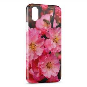 Coque iPhone XS Max Pink Flowers