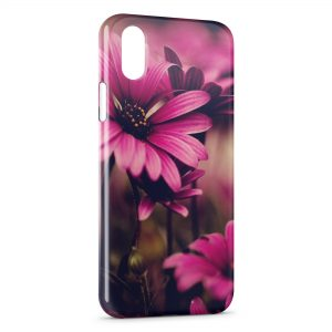 Coque iPhone XS Max Pink Flowers Art