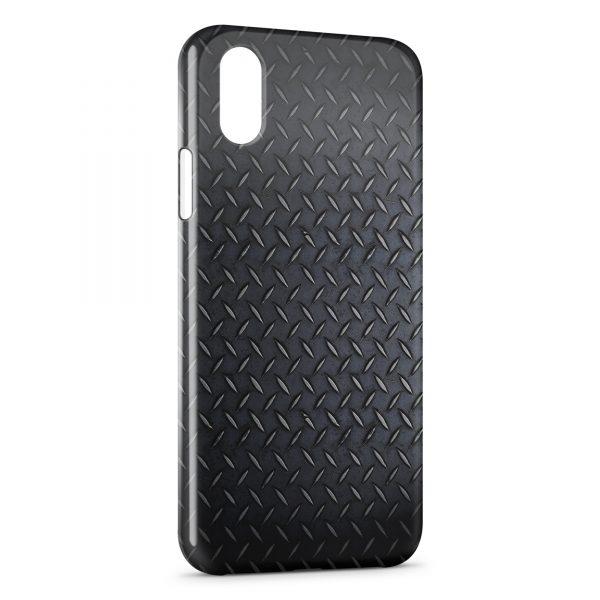 Coque iPhone XS Max Plaque d'acier