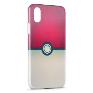 Coque iPhone XS Max Pokeball Pokemon Design