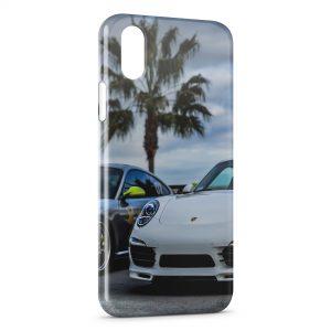 Coque iPhone XS Max Porsche et Palmier