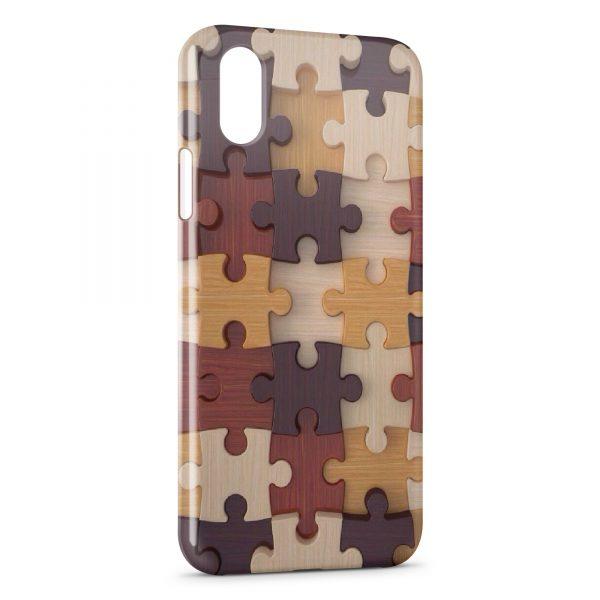 Coque iPhone XS Max Puzzle 3D Design
