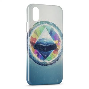 Coque iPhone XS Max Pyramide Art Design 4