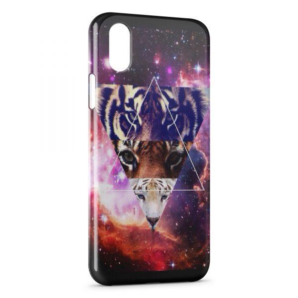 Coque iPhone XS Max Pyramide Illuminati Lion & Tigers