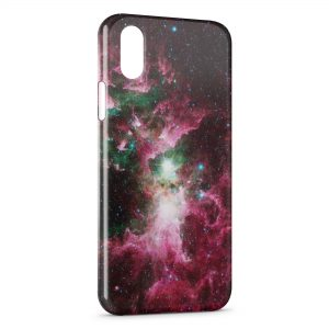 Coque iPhone XS Max Red Galaxy