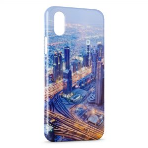 Coque iPhone XS Max Road Speed at Night City