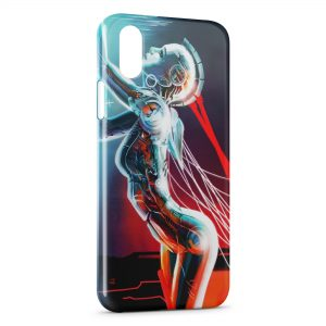 Coque iPhone XS Max Robot Girl Sexy