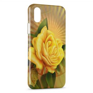 Coque iPhone XS Max Rose jaune