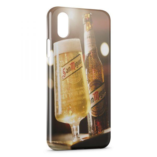 Coque iPhone XS Max San Miguel Bière Cerveza Espagnole 4