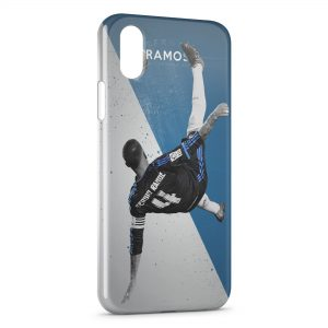 Coque iPhone XS Max Sergio Ramos Football