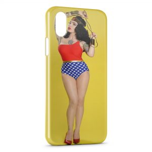 Coque iPhone XS Max Sexy Girl Wonder woman 2