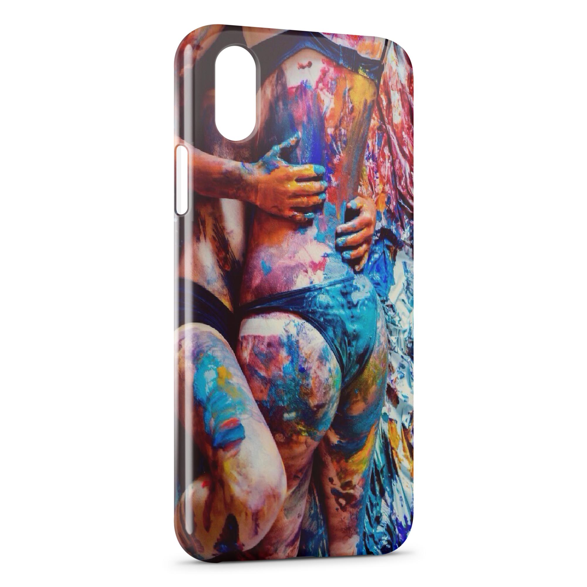 coque iphone xs max peinture
