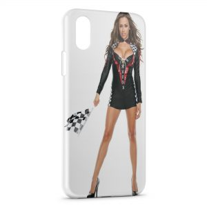 Coque iPhone XS Max Sexy girl tunning voiture