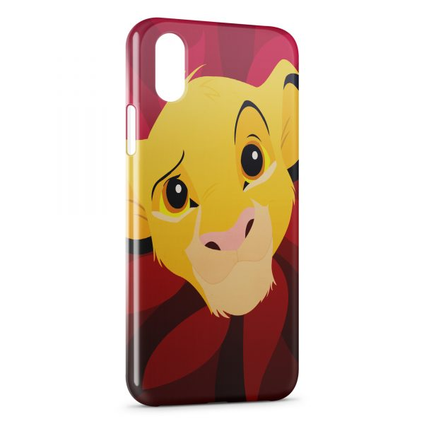 Coque iPhone XS Max Simba Art Red