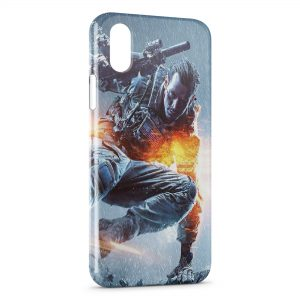 Coque iPhone XS Max Soldat Fire Style