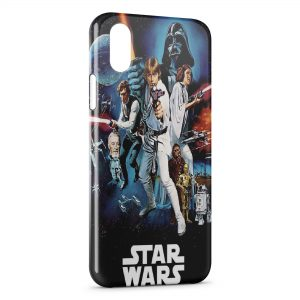 Coque iPhone XS Max Star Wars Affiche Vintage