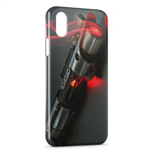 Coque iPhone XS Max Star Wars Sabre Laser Rouge Dark Jedi