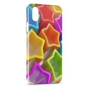 Coque iPhone XS Max Stars etoiles Colorées