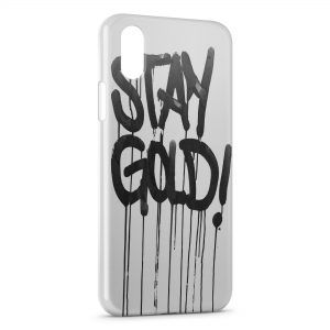 Coque iPhone XS Max Stay Gold