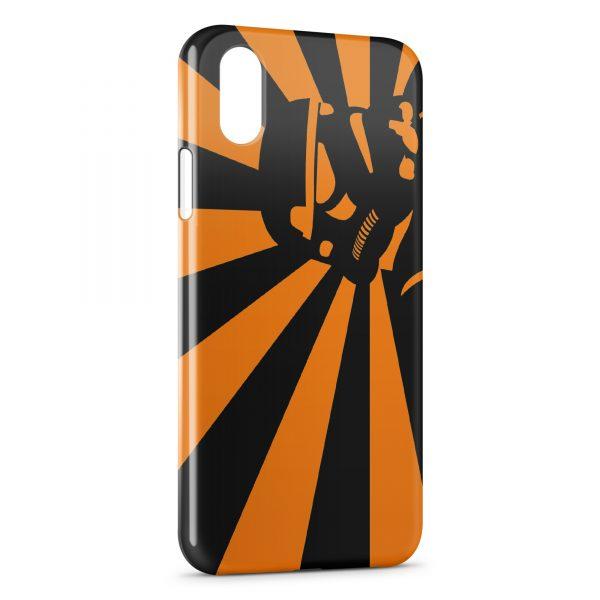 iphone xs max coque orange