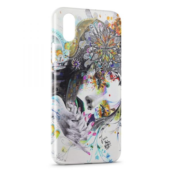 Coque iPhone XS Max Stylized woman's face