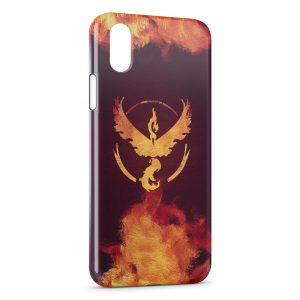 Coque iPhone XS Max Sulfura Pokemon Feu Oiseau