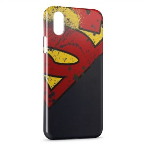 Coque iPhone XS Max Superman Logo Corner