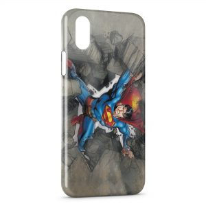 Coque iPhone XS Max Superman Rock