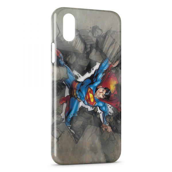 Coque iPhone XS Max Superman Rock