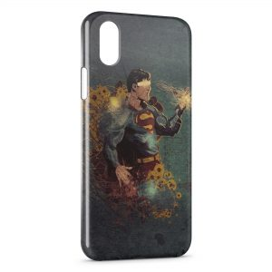 Coque iPhone XS Max Superman Vintage Design