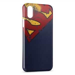 Coque iPhone XS Max Superman Vintage Style